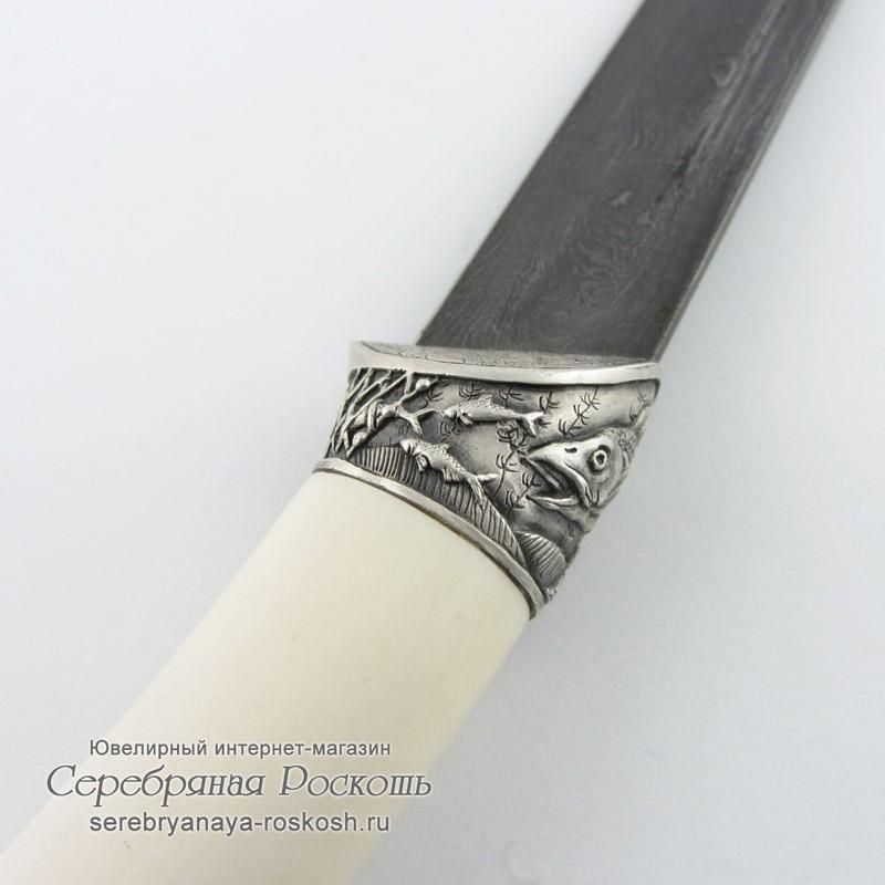 Нож из дамасской стали Щука