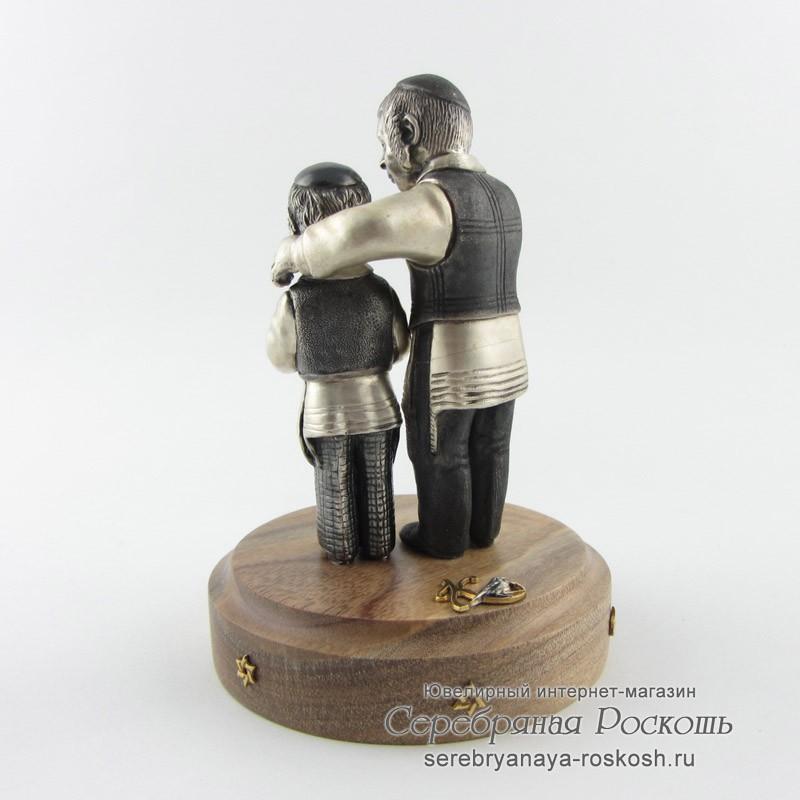 Статуэтка из серебра еврейские дети