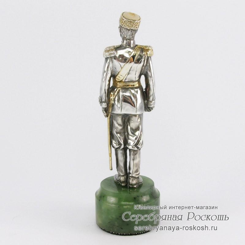 Статуэтка из серебра Николай II