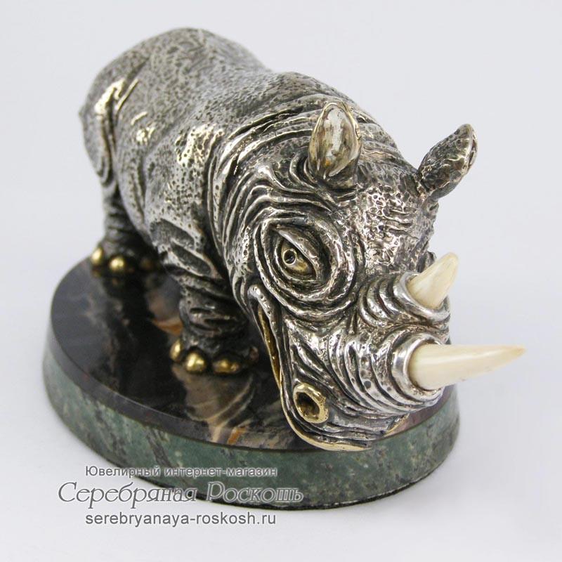 Статуэтка из серебра Носорог