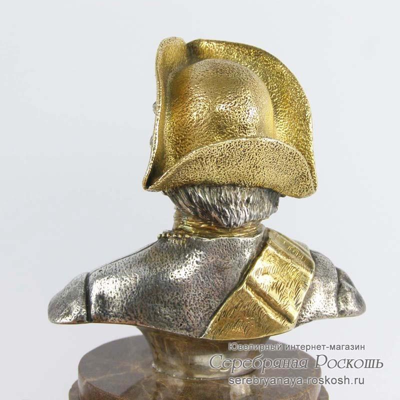 Серебряный бюст Петр I