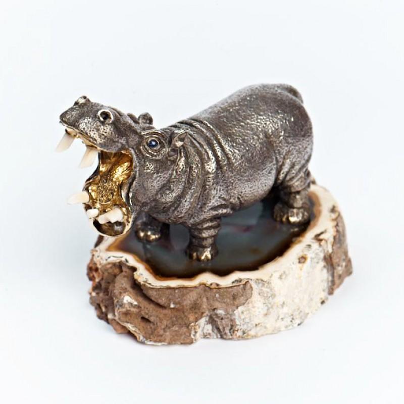 Серебряная статуэтка Бегемот