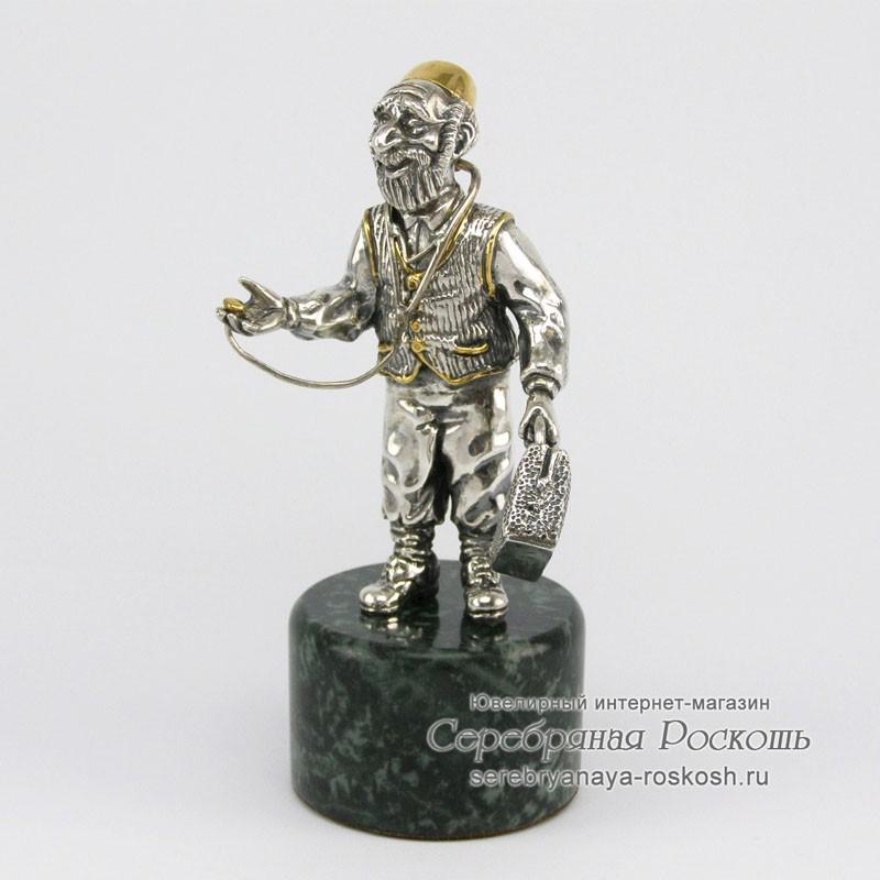 Серебряная статуэтка Еврей доктор
