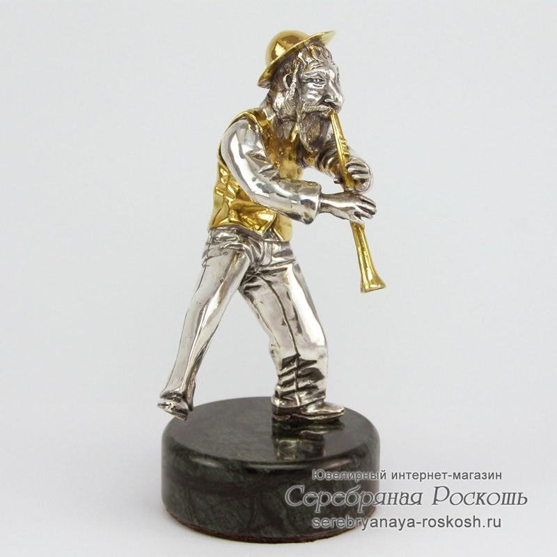 Серебряная статуэтка Еврей с кларнетом