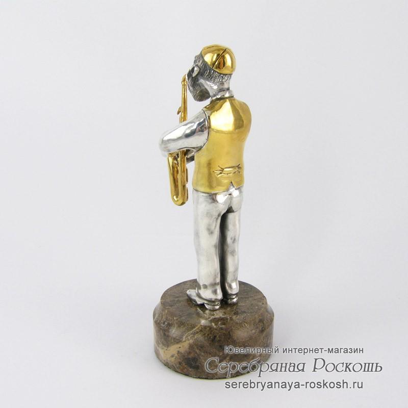 Серебряная статуэтка Еврей с саксофоном