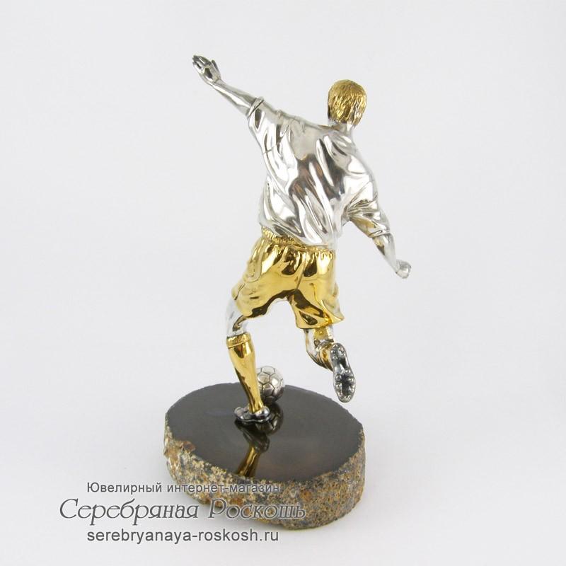 Серебряная статуэтка Футболист