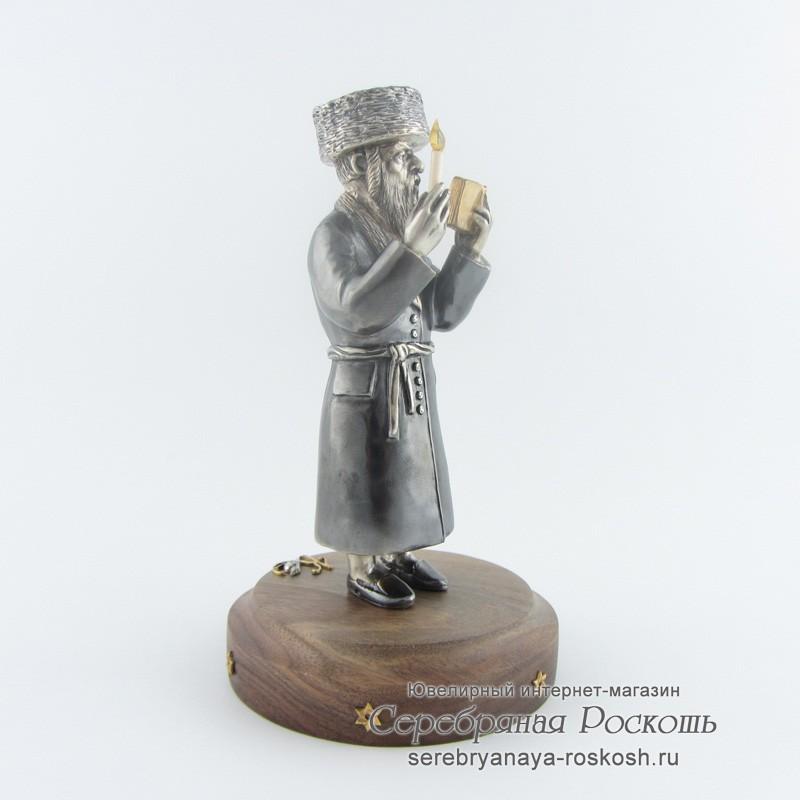 Серебряная статуэтка Молитва