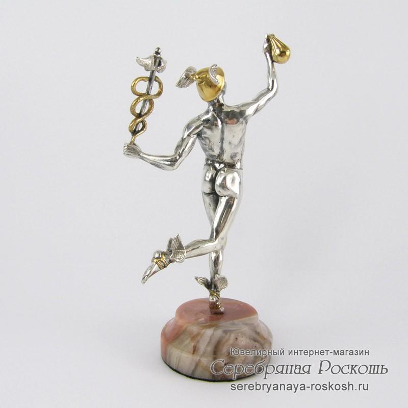 Серебряная статуэтка Меркурий