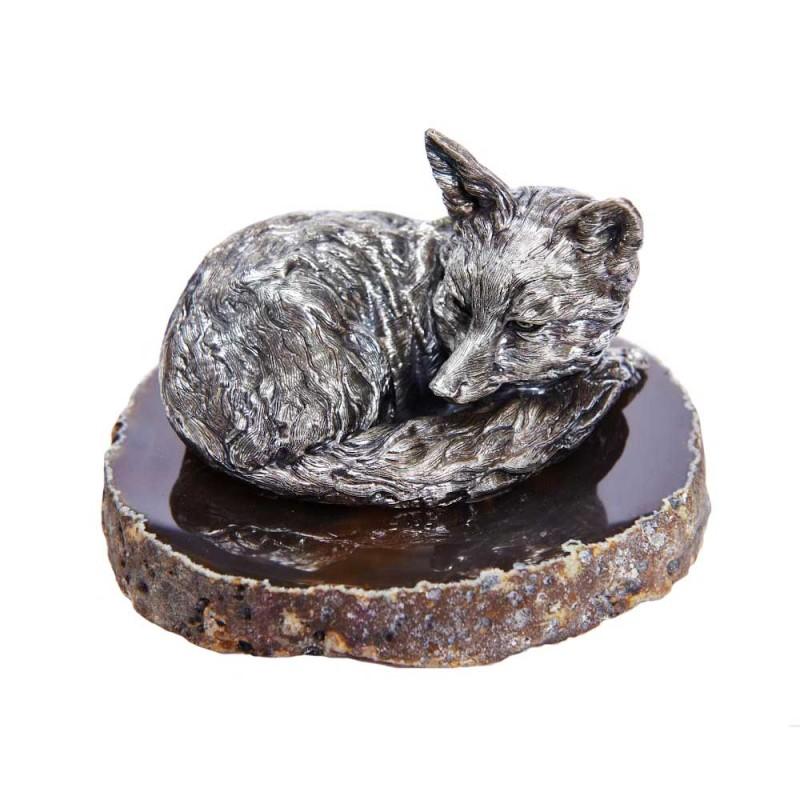 Серебряная статуэтка Лиса