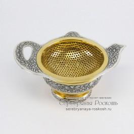 Серебро для чая ситечко