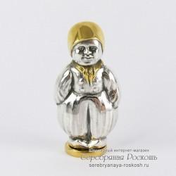 Серебряная солонка - перечница Мальчик