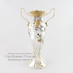 Серебряная ваза - амфора Девушка