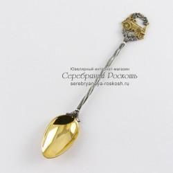Серебряная чайная ложка Паровоз