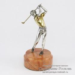 Серебряная статуэтка Игрок в гольф