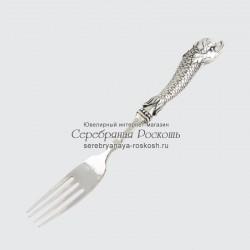 Столовая вилка из серебра Дельфин