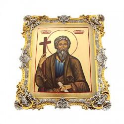 Икона в серебряном окладе Андрей Первозванный