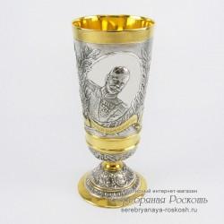 Серебряный бокал Николай 2