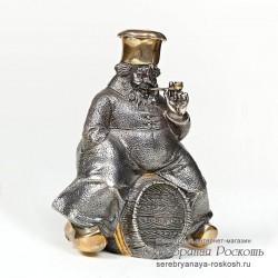 Серебряный графин Повар