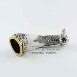 Серебряный рог для вина Баран