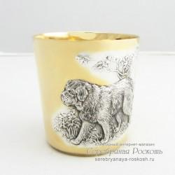 Серебряный стакан Собака