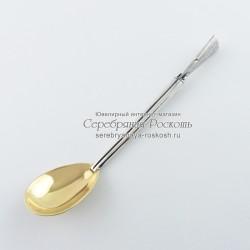 Серебряная чайная ложка Ружье