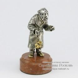 Статуэтка из серебра Еврей ростовщик