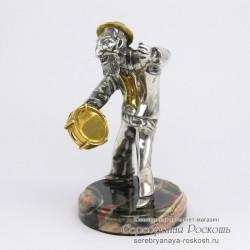 Серебряная статуэтка Еврей с бубном