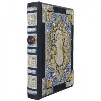 Библия на русском языке в кожаном переплете