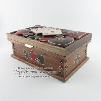 Шкатулка Масти карт