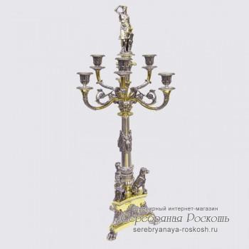 Канделябр на 6 свечей - Богиня охоты Артемида